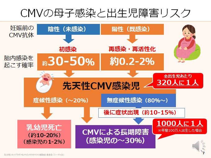CMVの母子感染と出生児障害リスク